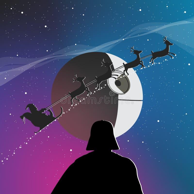 Χριστούγεννα και Star Wars διανυσματική απεικόνιση