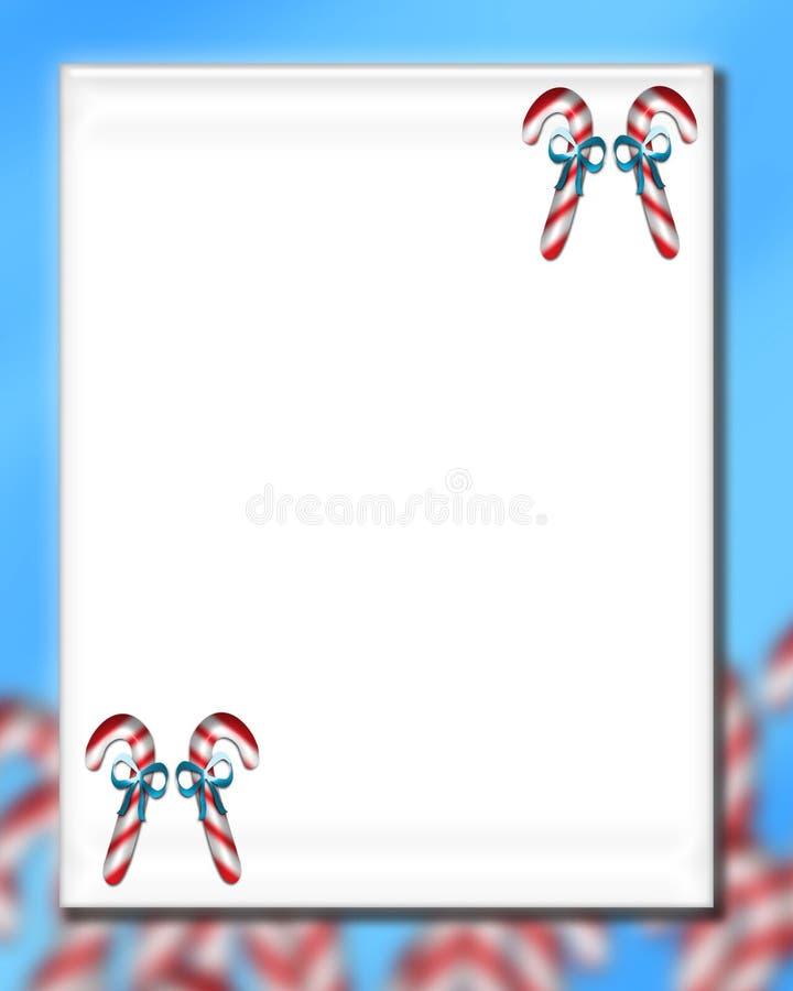 Χριστούγεννα καλάμων 6 καρ διανυσματική απεικόνιση