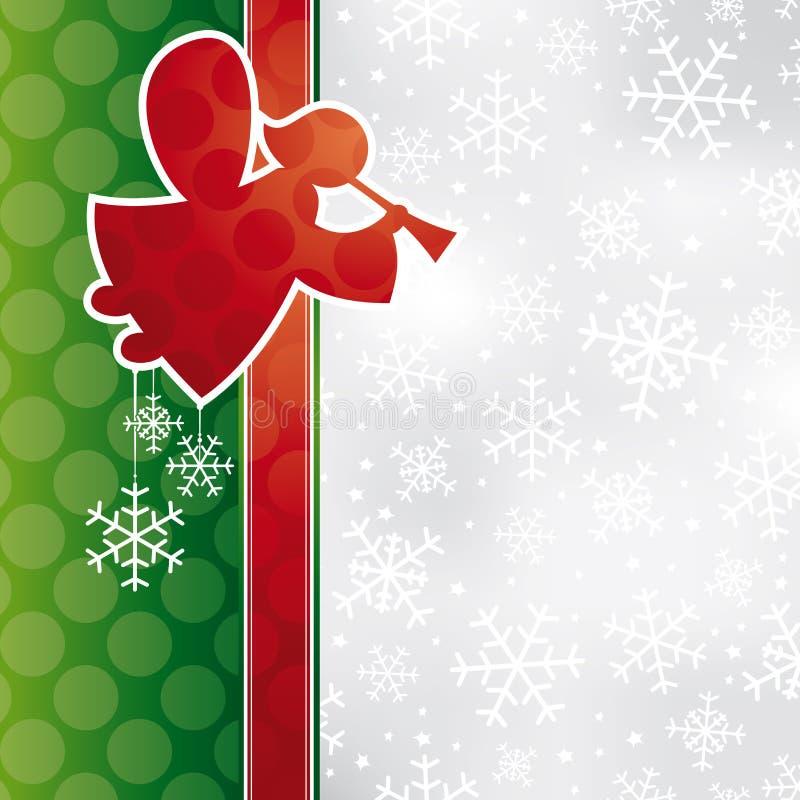 Χριστούγεννα καρτών αγγέλ απεικόνιση αποθεμάτων