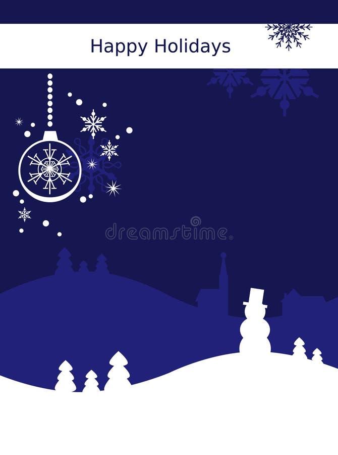 Χριστούγεννα καρτών ανασ&kapp διανυσματική απεικόνιση