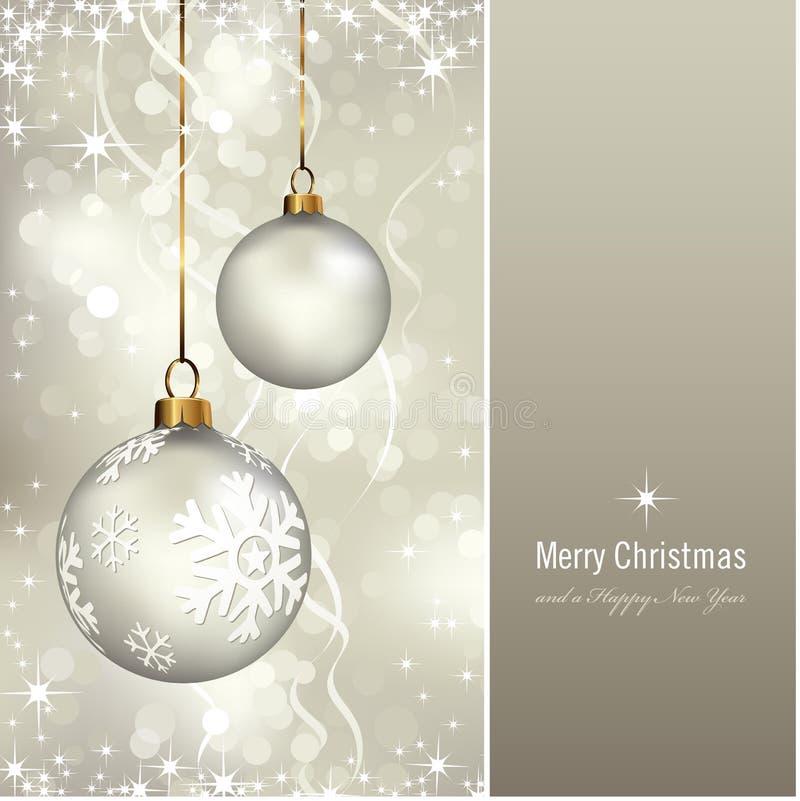 Χριστούγεννα καρτών κομψά διανυσματική απεικόνιση