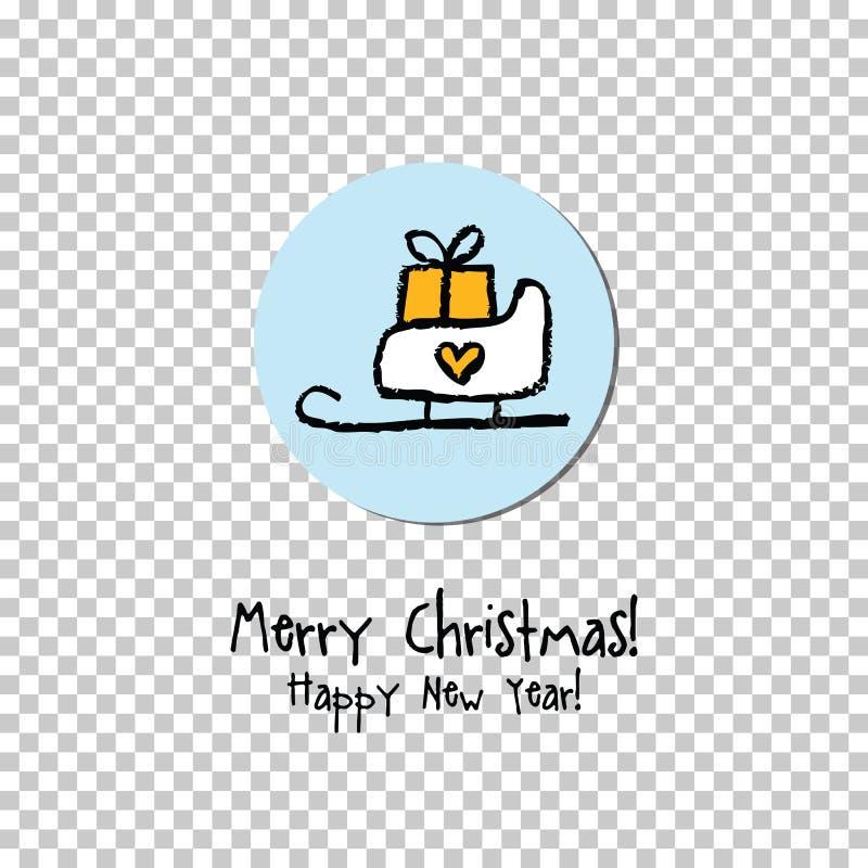 Χριστούγεννα καρτών που χ&a Ετικέτα, κάρτα δώρων, αυτοκόλλητη ετικέττα απεικόνιση αποθεμάτων
