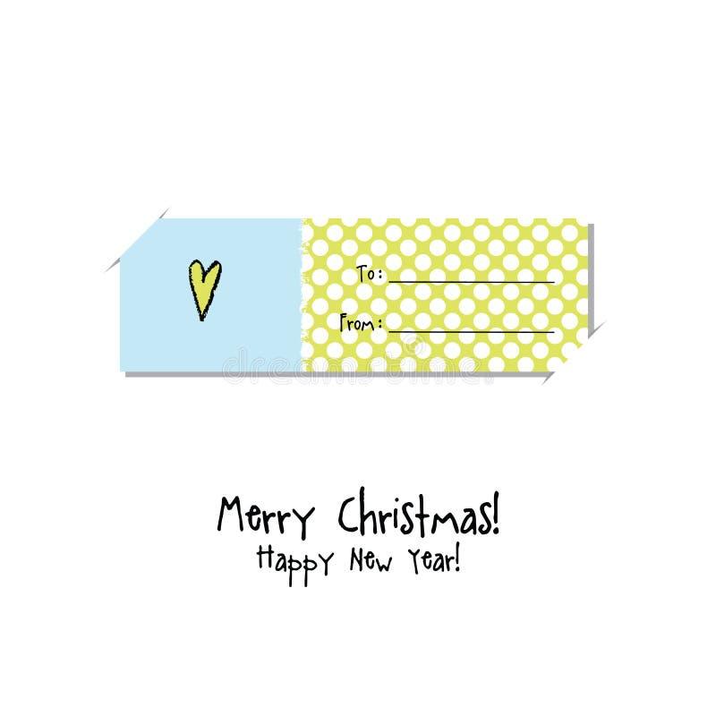 Χριστούγεννα καρτών που χ&a Ετικέτα, κάρτα δώρων, αυτοκόλλητη ετικέττα διανυσματική απεικόνιση