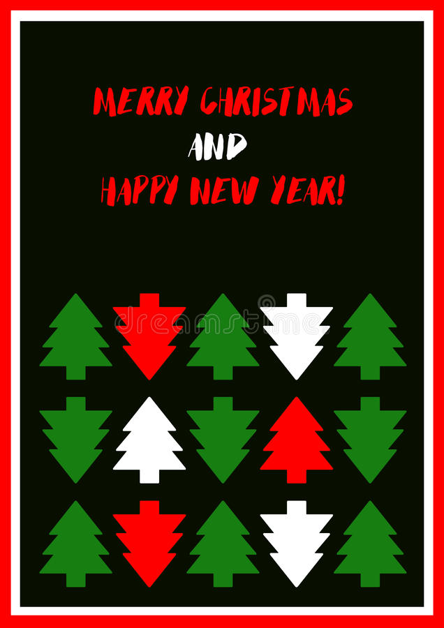 Χριστούγεννα καρτών που χ&a απεικόνιση αποθεμάτων