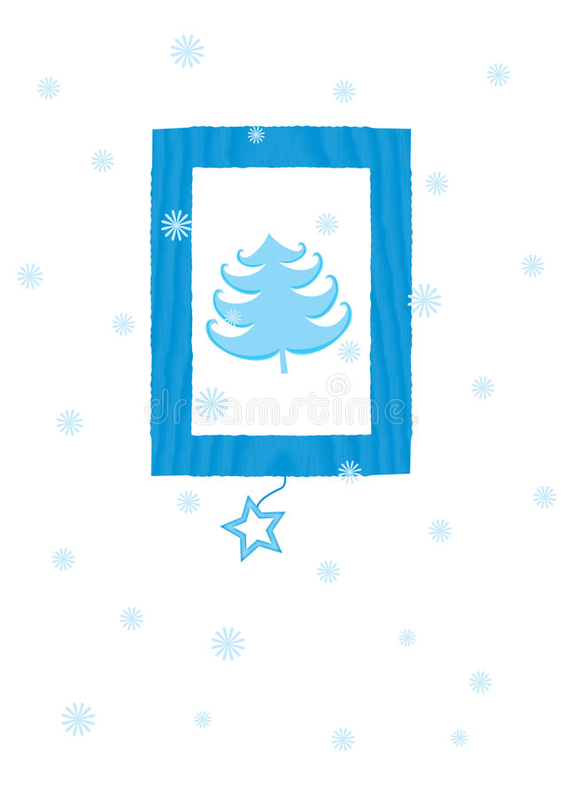 Download Χριστούγεννα καρτών απεικόνιση αποθεμάτων. εικονογραφία από δέντρο - 383870