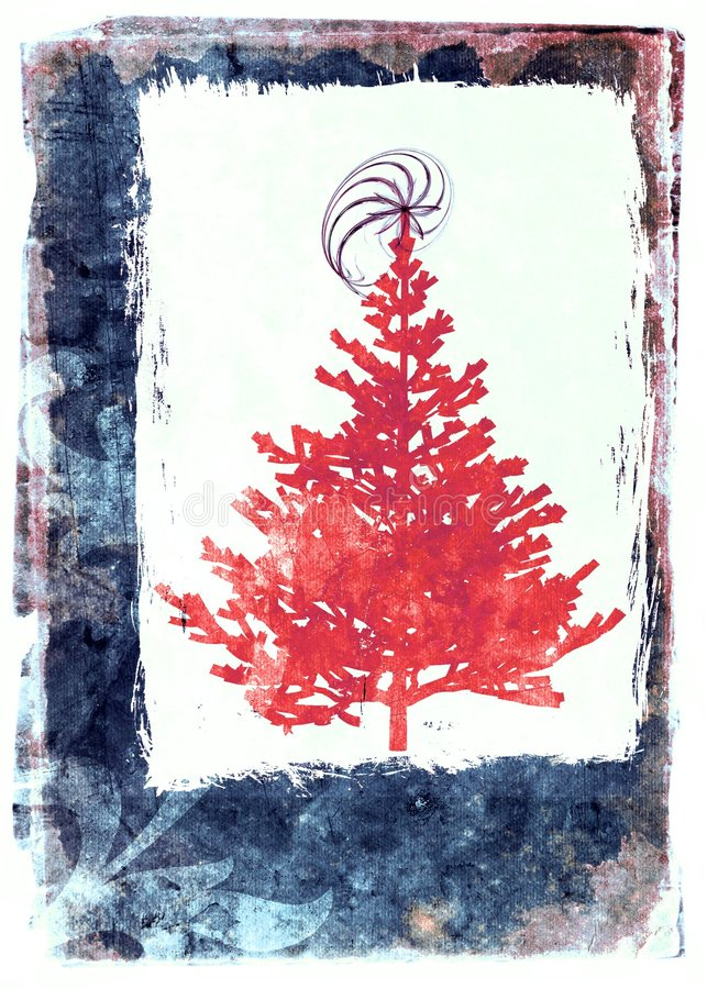 Download Χριστούγεννα καρτών grunge απεικόνιση αποθεμάτων. εικονογραφία από κάρτα - 1531155