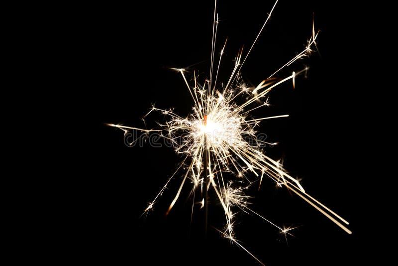 Χριστούγεννα καψίματος sparkler στοκ φωτογραφία με δικαίωμα ελεύθερης χρήσης