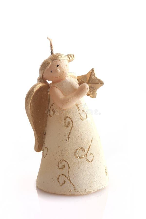 Χριστούγεννα κεριών αγγέ&lamb στοκ φωτογραφία με δικαίωμα ελεύθερης χρήσης