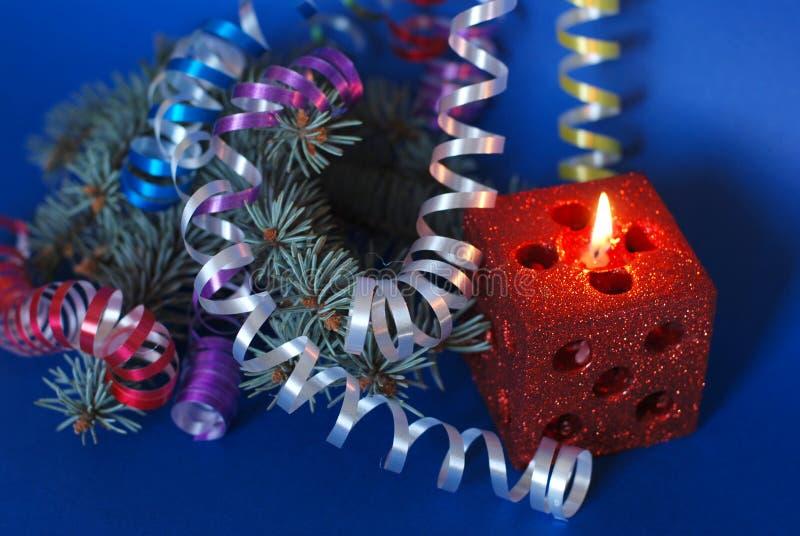 Χριστούγεννα κεριών μαγικά στοκ εικόνες