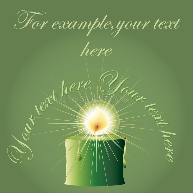 Χριστούγεννα κεριών πράσιν διανυσματική απεικόνιση