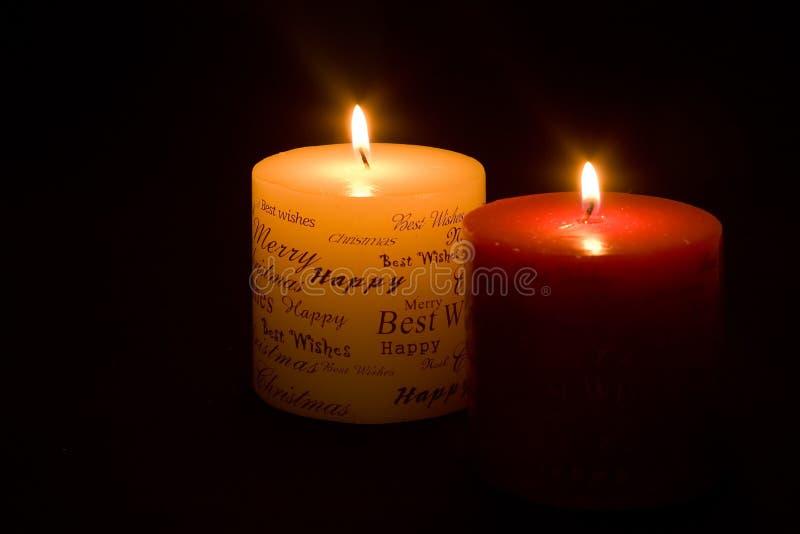 Χριστούγεννα κεριών στοκ φωτογραφίες με δικαίωμα ελεύθερης χρήσης