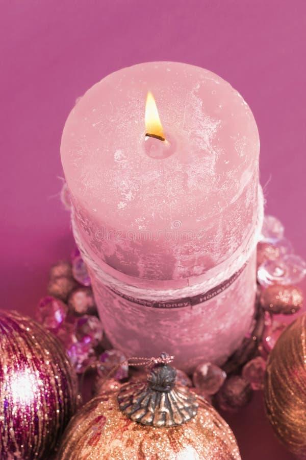 Download Χριστούγεννα κεριών στοκ εικόνες. εικόνα από μπιχλιμπιδιών - 51134