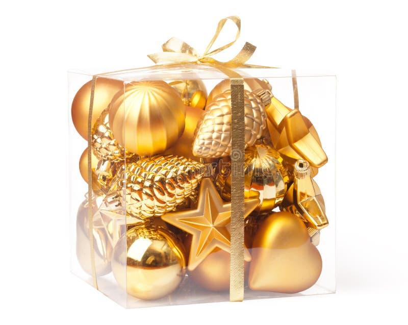 Χριστούγεννα κιβωτίων σφ&alp στοκ φωτογραφίες με δικαίωμα ελεύθερης χρήσης
