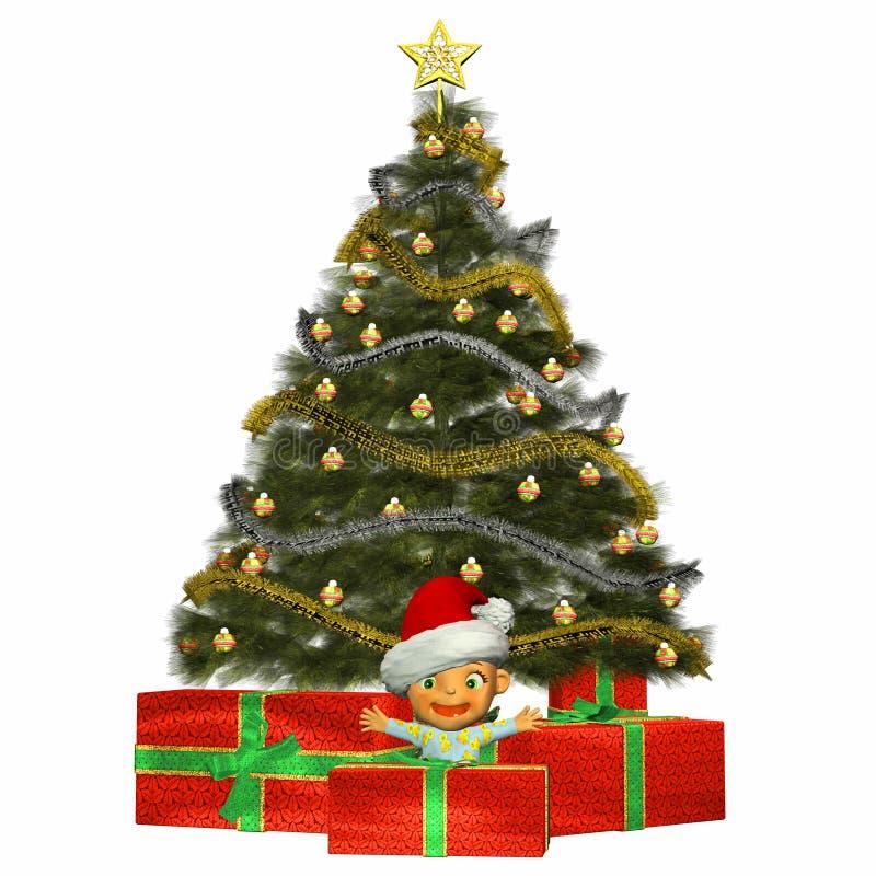 Χριστούγεννα κινούμενων &sig απεικόνιση αποθεμάτων
