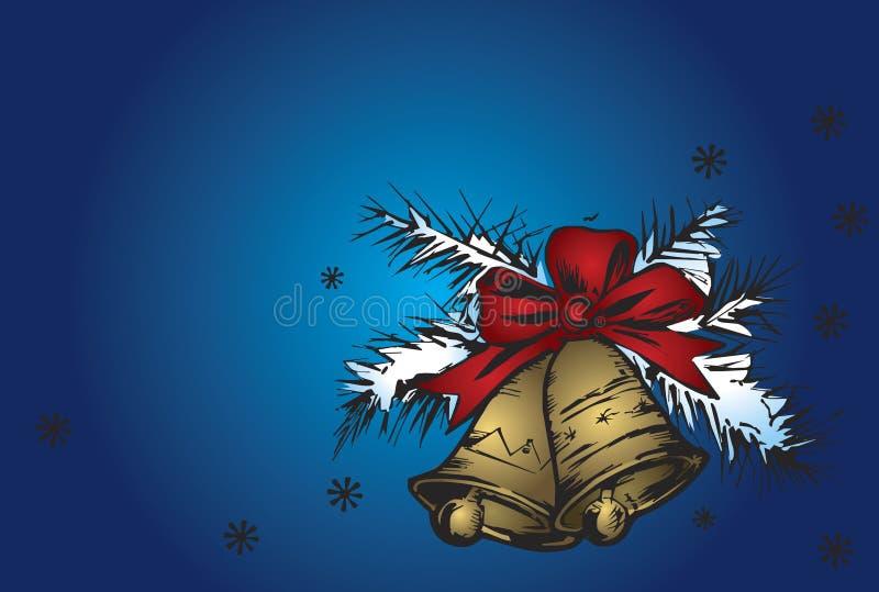 Χριστούγεννα κουδουνιών διανυσματική απεικόνιση