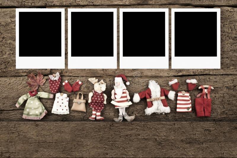 Χριστούγεννα με τρία πλαίσια φωτογραφιών στοκ φωτογραφίες με δικαίωμα ελεύθερης χρήσης