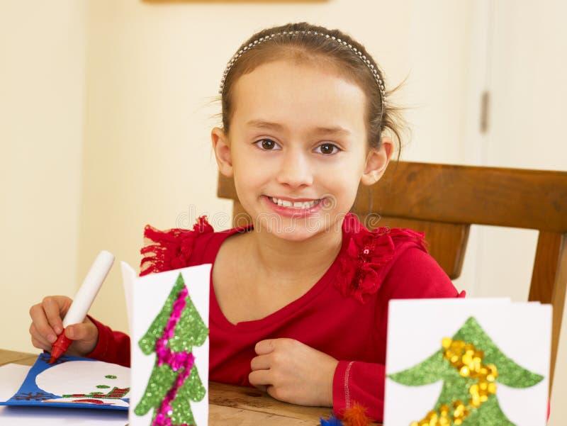 Χριστούγεννα παιδιών καρτ στοκ φωτογραφίες με δικαίωμα ελεύθερης χρήσης