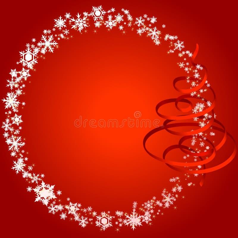 Χριστούγεννα πλαισίων snowlakes απεικόνιση αποθεμάτων