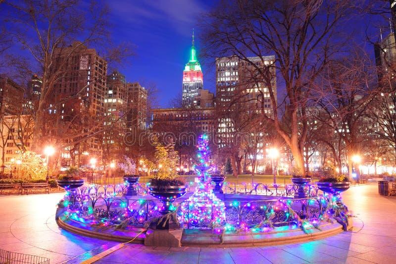 Χριστούγεννα πόλεων της Νέας Υόρκης στοκ φωτογραφία με δικαίωμα ελεύθερης χρήσης