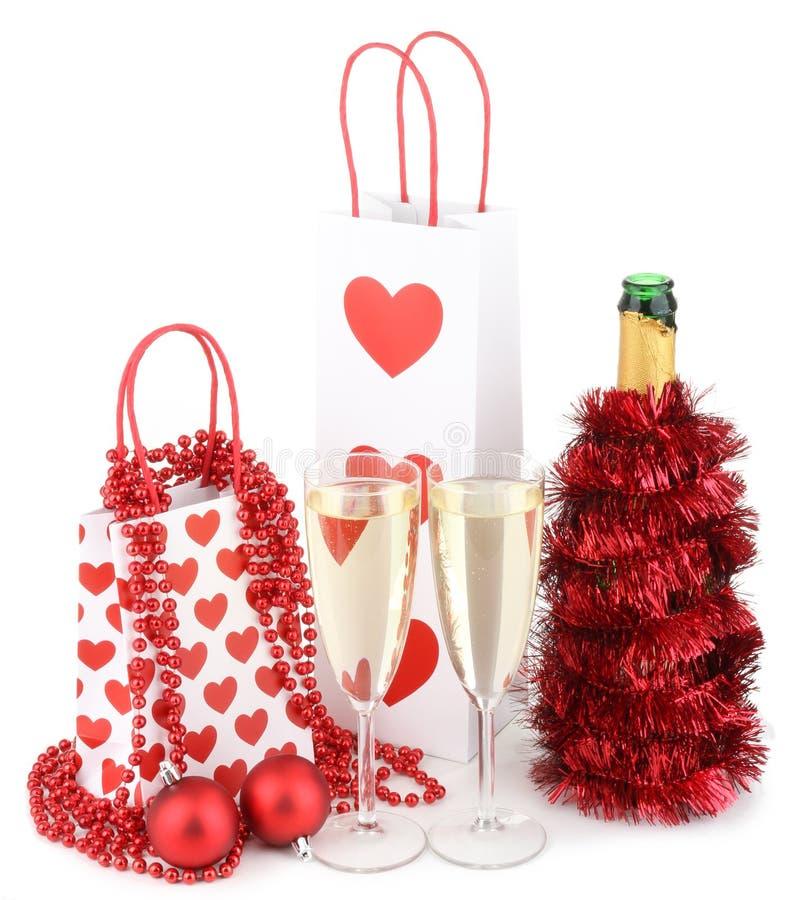 Download Χριστούγεννα σαμπάνιας στοκ εικόνες. εικόνα από εμφιαλωτών - 17050664