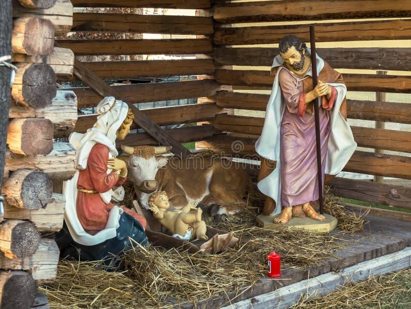 Χριστούγεννα, σκηνή Nativity στοκ φωτογραφία