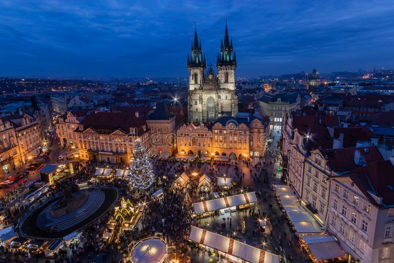 Χριστούγεννα στην Πράγα στοκ εικόνα με δικαίωμα ελεύθερης χρήσης