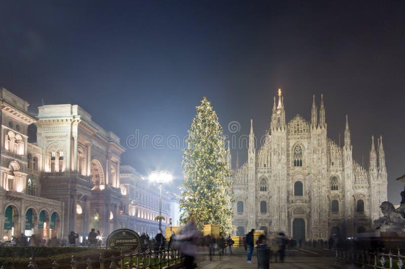 Χριστούγεννα στην πλατεία Duomo, Μιλάνο στοκ φωτογραφίες