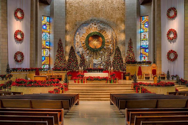 Χριστούγεννα στη βασιλική στοκ εικόνα με δικαίωμα ελεύθερης χρήσης
