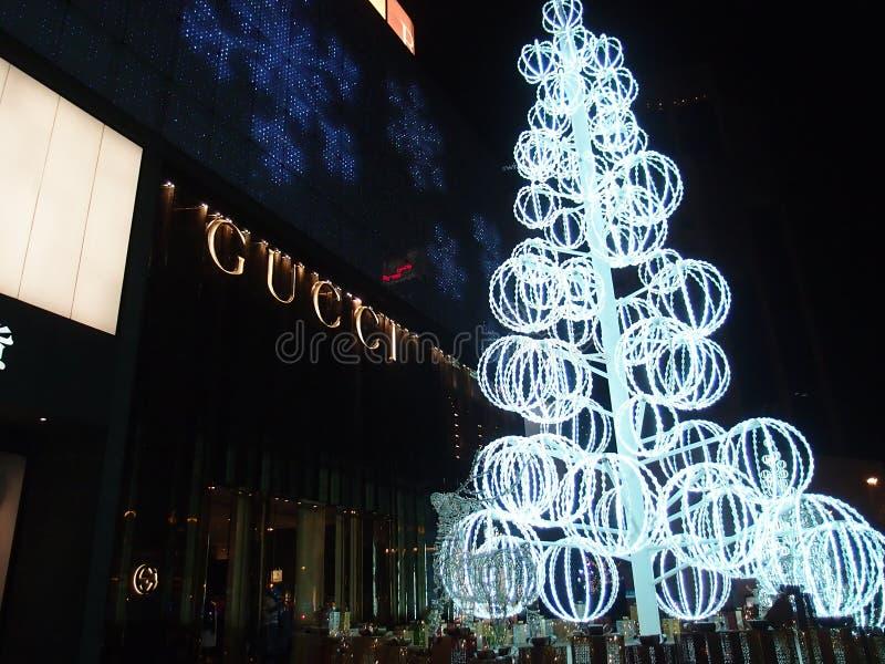 Χριστούγεννα στη ΣΑΓΚΆΗ ΚΙΝΑ στοκ φωτογραφία