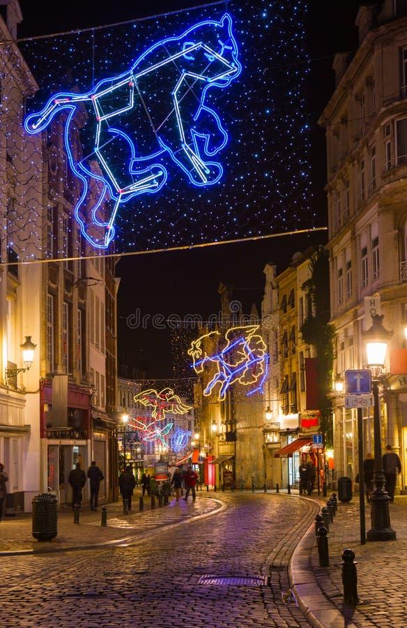 Χριστούγεννα στις Βρυξέλλες στοκ φωτογραφία