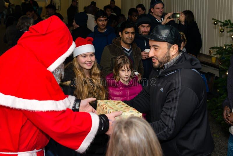 Χριστούγεννα στο γερμανικό στρατόπεδο προσφύγων στοκ φωτογραφίες με δικαίωμα ελεύθερης χρήσης
