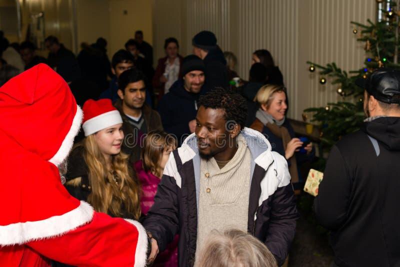 Χριστούγεννα στο γερμανικό στρατόπεδο προσφύγων στοκ εικόνα με δικαίωμα ελεύθερης χρήσης