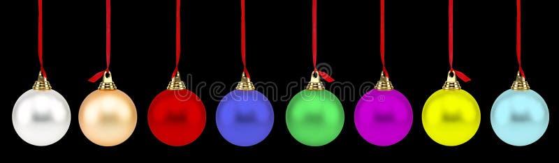 Χριστούγεννα σφαιρών ζωηρόχρωμα στοκ εικόνες με δικαίωμα ελεύθερης χρήσης