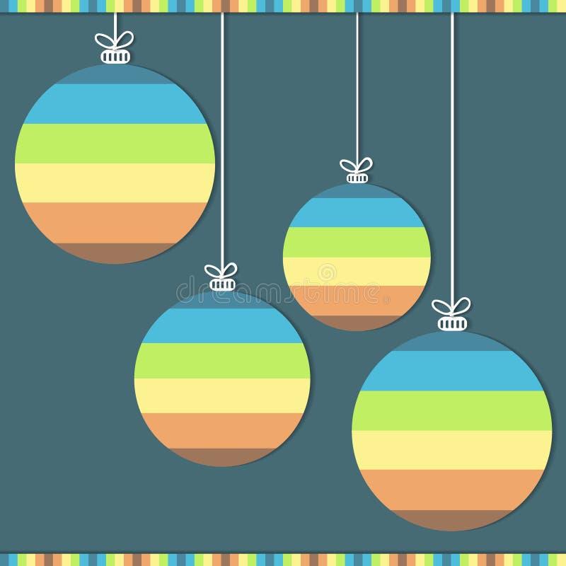 Χριστούγεννα σφαιρών ζωηρόχρωμα απεικόνιση αποθεμάτων