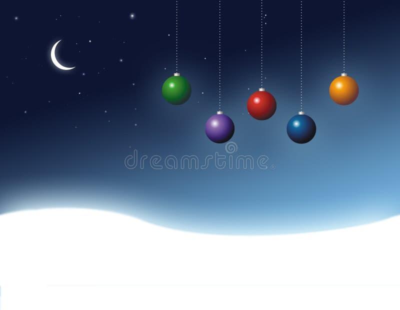 Χριστούγεννα σφαιρών που χρωματίζονται ελεύθερη απεικόνιση δικαιώματος