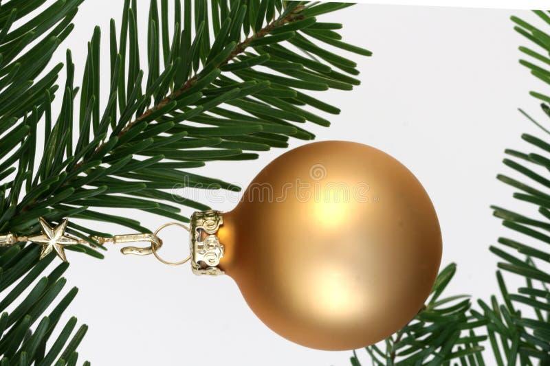 Χριστούγεννα σφαιρών χρυ&sigm στοκ φωτογραφίες