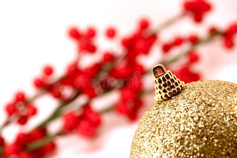Χριστούγεννα σφαιρών χρυ&sigm στοκ φωτογραφίες με δικαίωμα ελεύθερης χρήσης