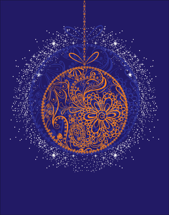 Download Χριστούγεννα σφαιρών διανυσματική απεικόνιση. εικονογραφία από χιόνι - 22786969