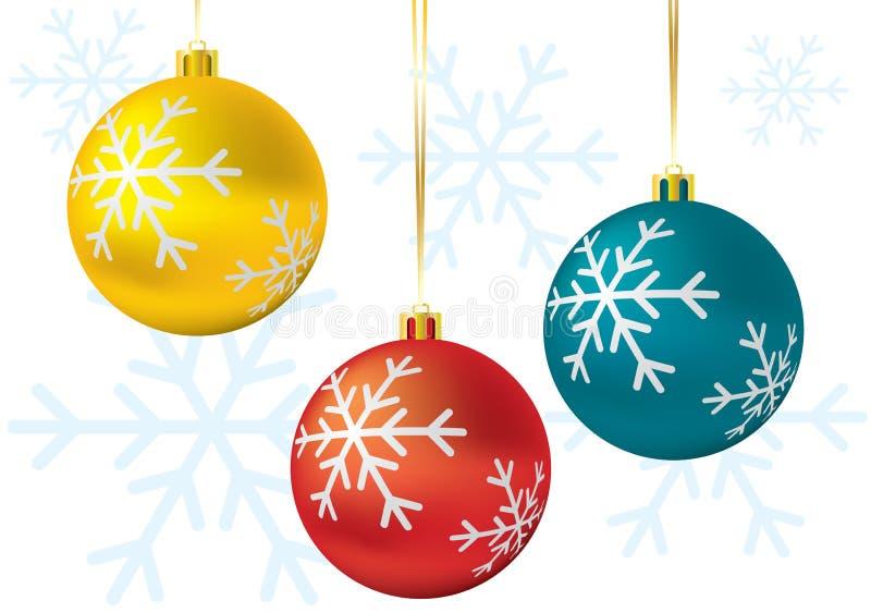 Χριστούγεννα σφαιρών απεικόνιση αποθεμάτων