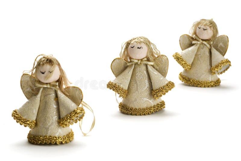 Χριστούγεννα τρία αγγέλων στοκ εικόνα με δικαίωμα ελεύθερης χρήσης