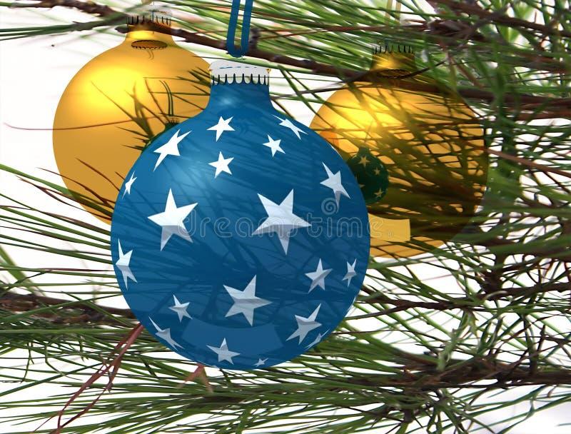 Χριστούγεννα τρία σφαιρών διανυσματική απεικόνιση