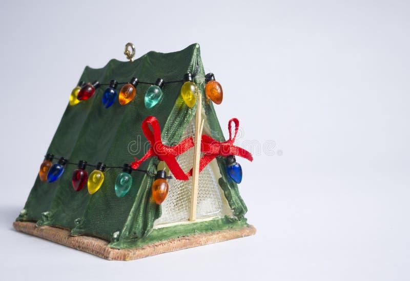 Χριστούγεννα Campout στοκ φωτογραφίες με δικαίωμα ελεύθερης χρήσης