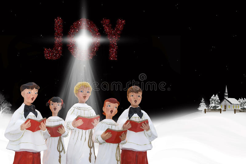 Χριστούγεννα carolers διανυσματική απεικόνιση