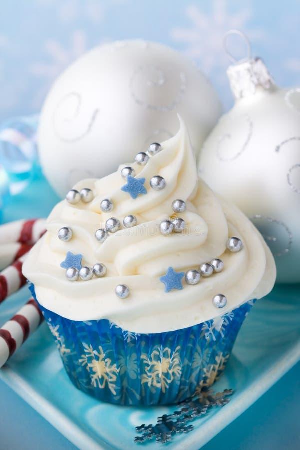 Χριστούγεννα cupcake στοκ εικόνα με δικαίωμα ελεύθερης χρήσης