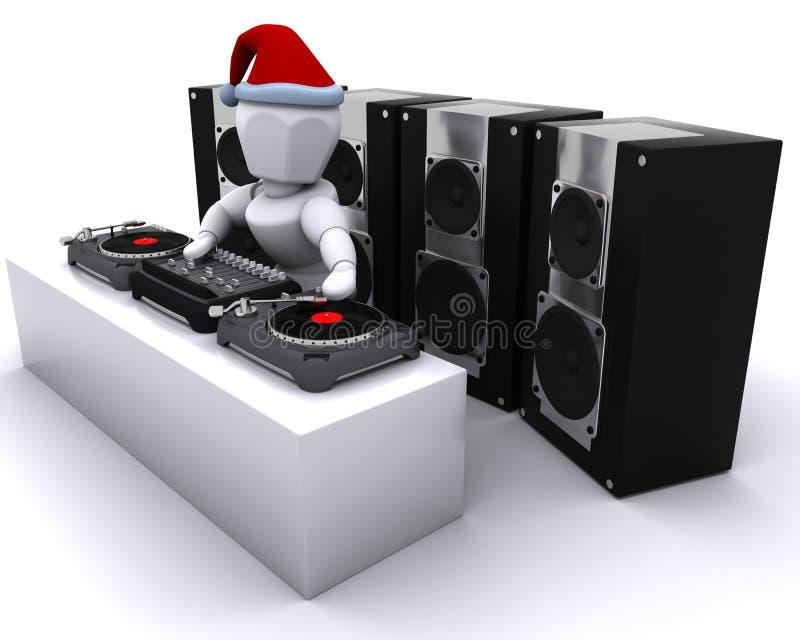 Χριστούγεννα DJ που αναμι&gamma ελεύθερη απεικόνιση δικαιώματος