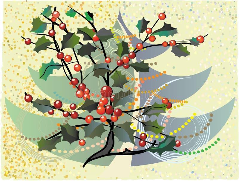 Χριστούγεννα floral στοκ εικόνα με δικαίωμα ελεύθερης χρήσης