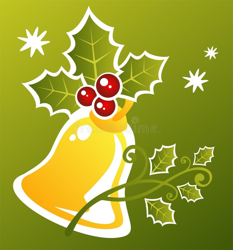 Χριστούγεννα handbell διανυσματική απεικόνιση