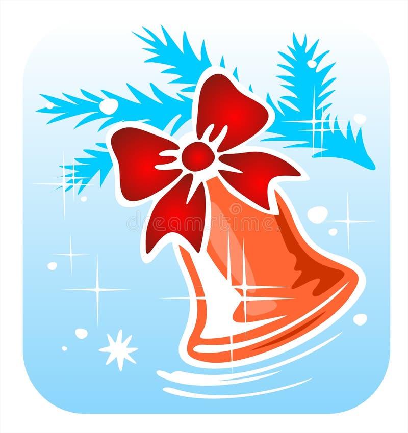 Χριστούγεννα handbell απεικόνιση αποθεμάτων