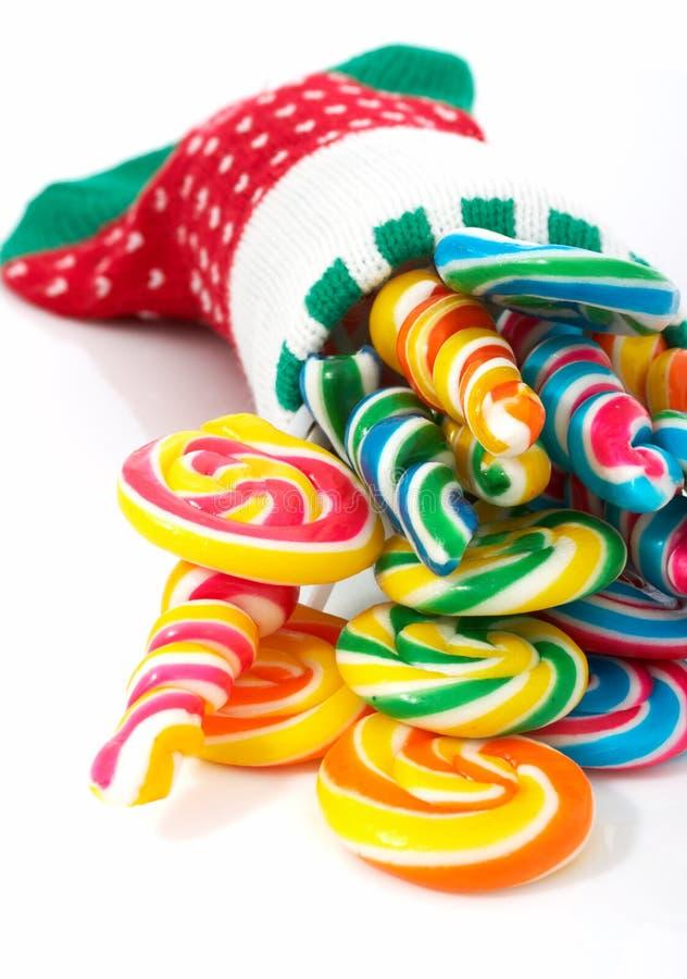 Χριστούγεννα lollipop στοκ φωτογραφία