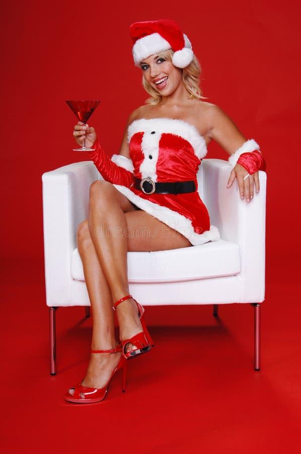 Χριστούγεννα martini στοκ εικόνες